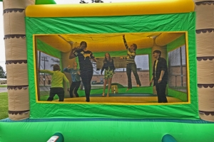 Bouncy house Pentecost Sunday Picnic