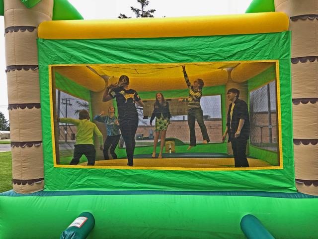 Bouncy house Pentecost Sunday Picnic