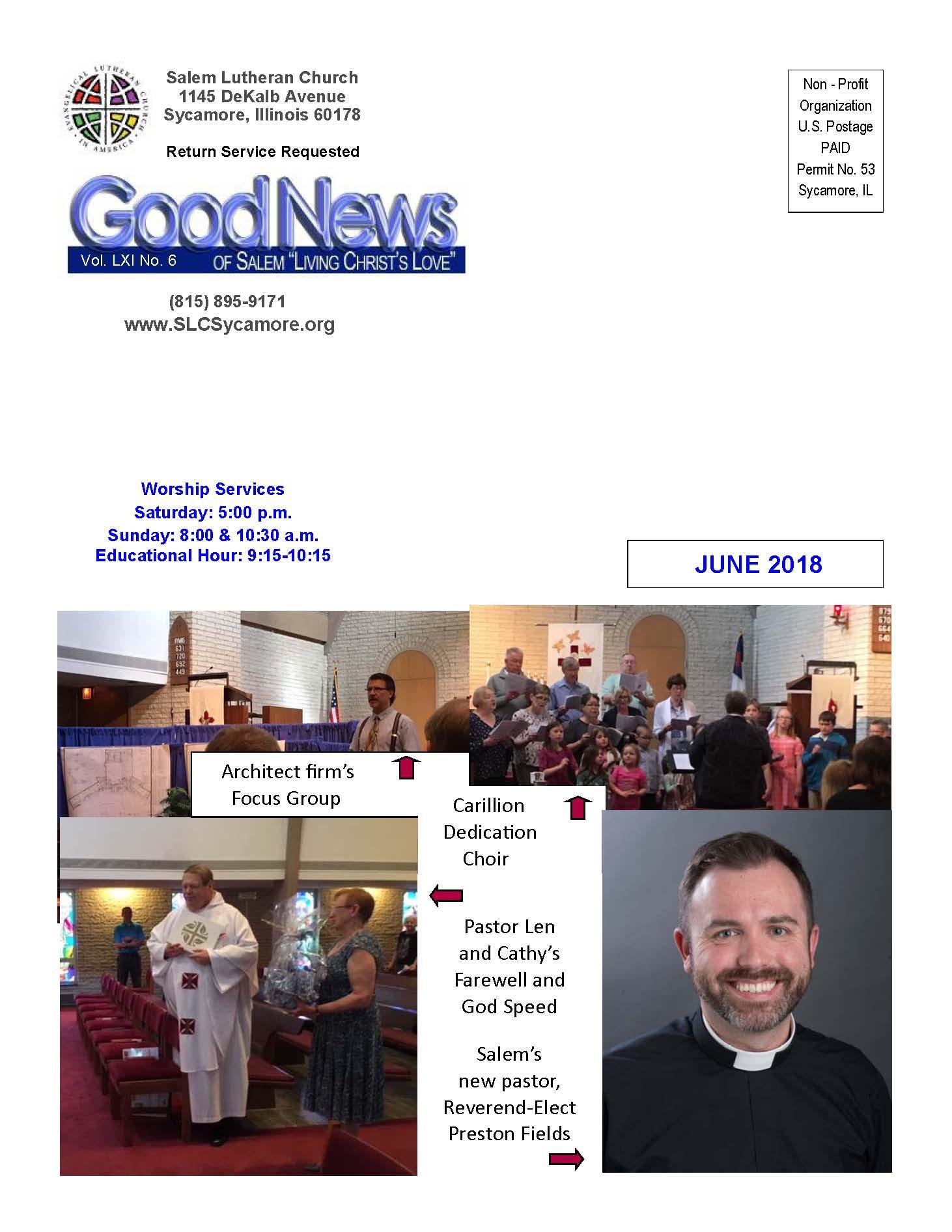 June 2018 Newsletter Cover