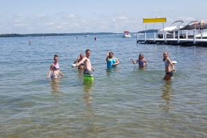Youth Group at Fontana Beach at Lake Geneva