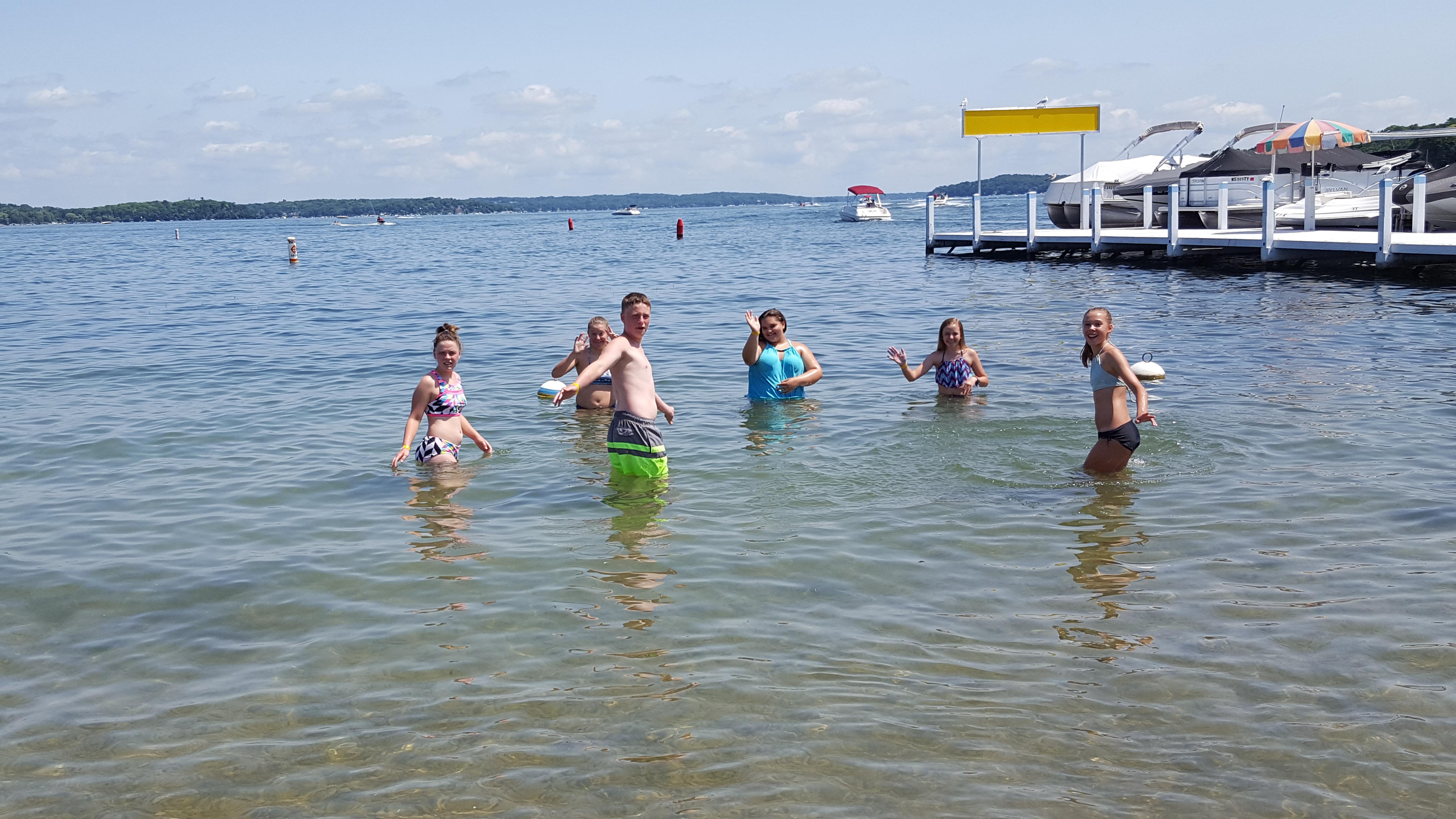 Youth Group at Fontana Beach at Lake Geneva