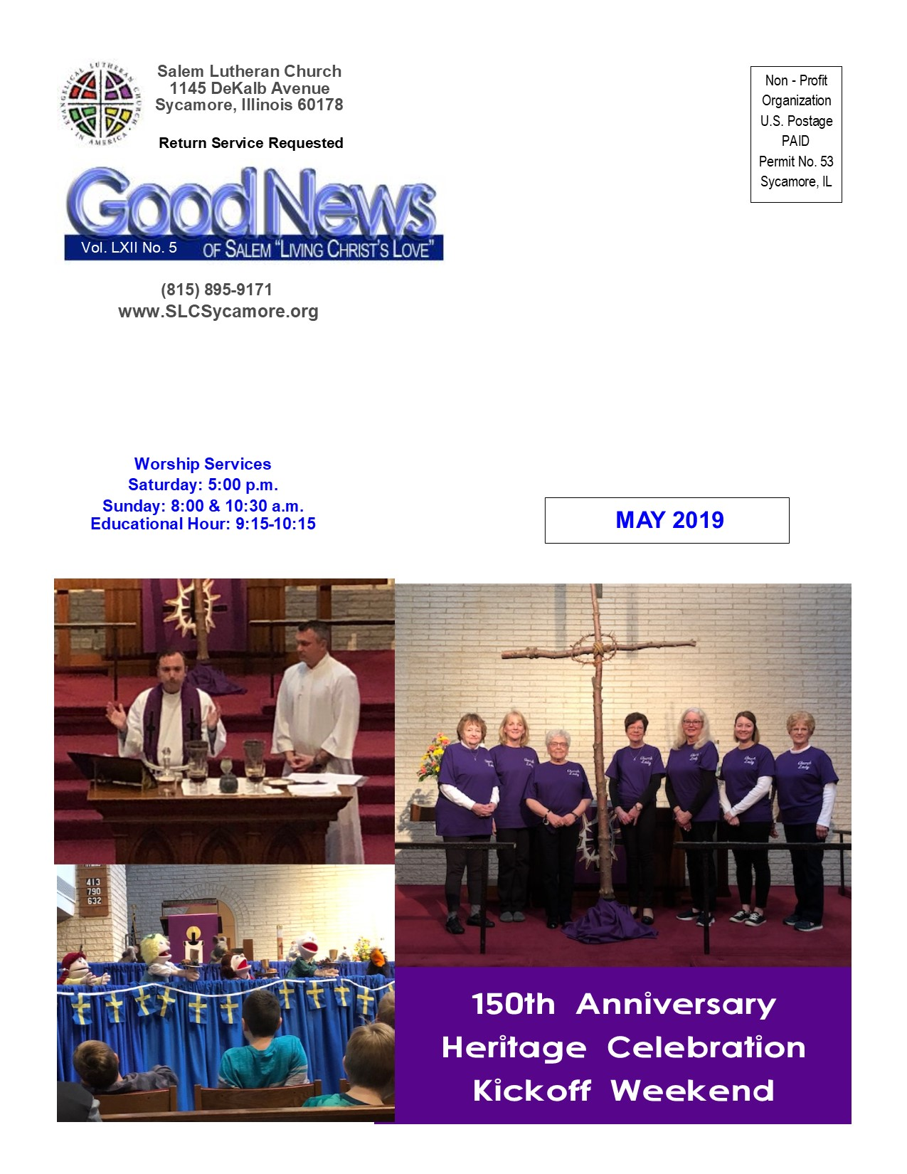 May 2019 Newsletter Cover