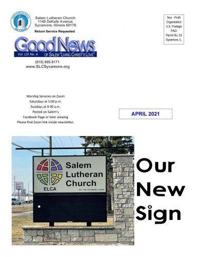 April 2021 Newsletter Cover