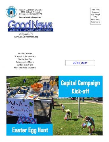 June 2021 Newsletter Cover