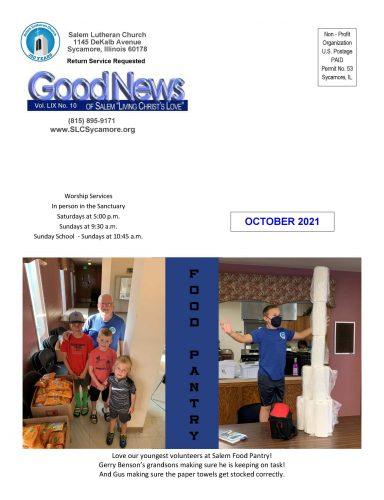 October 2021 Newsletter Cover
